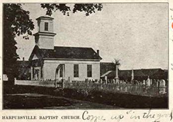 Harpursville Baptist Church Harpursville, New York Original Vintage Post Card