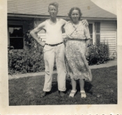Uncle Gilbert Bushnell and Gertrude (Mom)